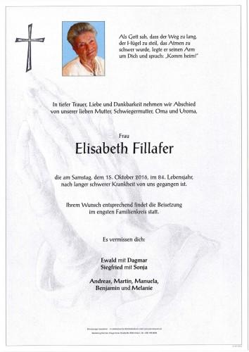 Elisabeth Fillafer geb. Gauder