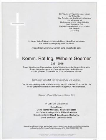 Ing. Wilhelm Goerner