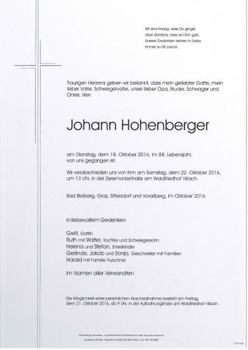 Johann Hohenberger