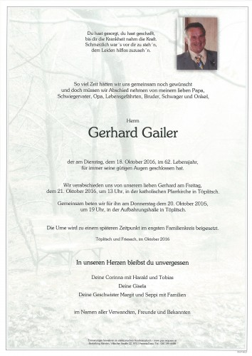 Gerhard Gailer