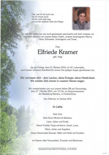 Elfriede Kramer, geb. Siegl