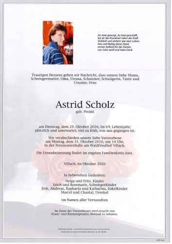 Astrid Scholz geb. Preiml