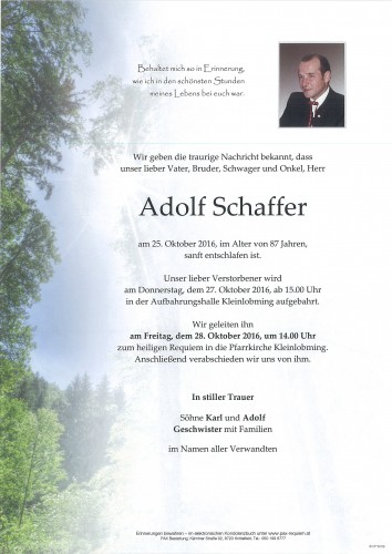 Adolf Schaffer
