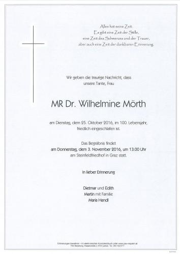 MR Dr. Wilhelmine Mörth