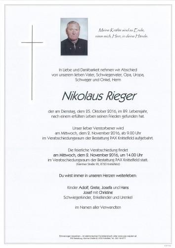 Nikolaus Rieger
