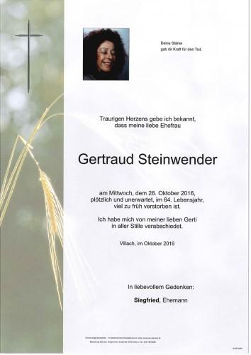 Gertraud Steinwender geb. Frass