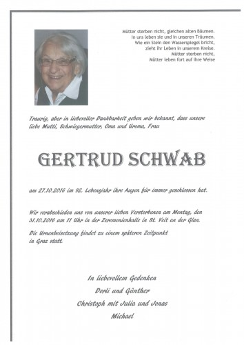 Gertrud Schwab  geb. Alliger
