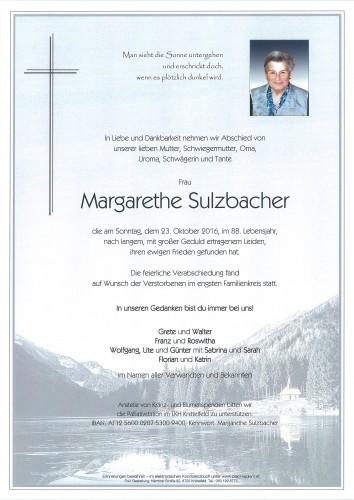 Margarethe Sulzbacher
