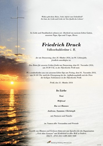Friedrich Druck Volksschuldirektor i. R.