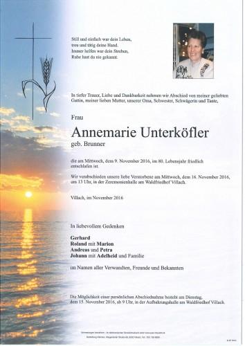 Annemarie Unterköfler