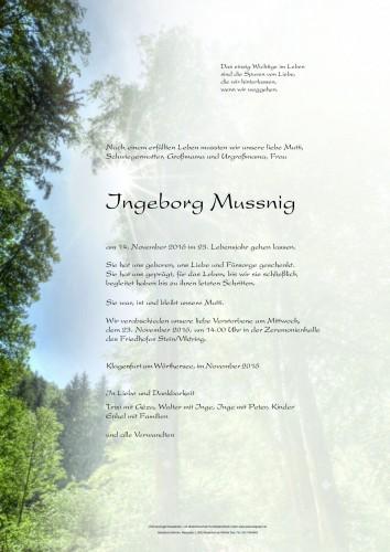 Ingeborg Mussnig