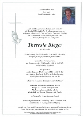Theresia Rieger