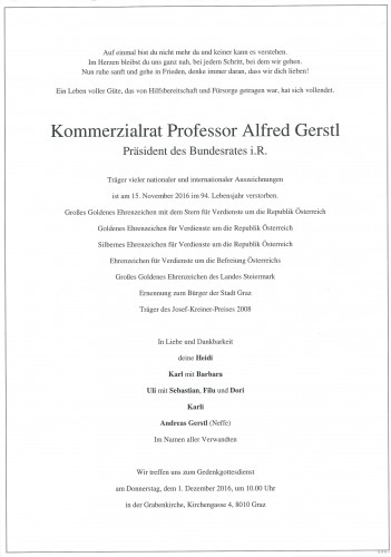 Prof. KommR. Alfred Gerstl