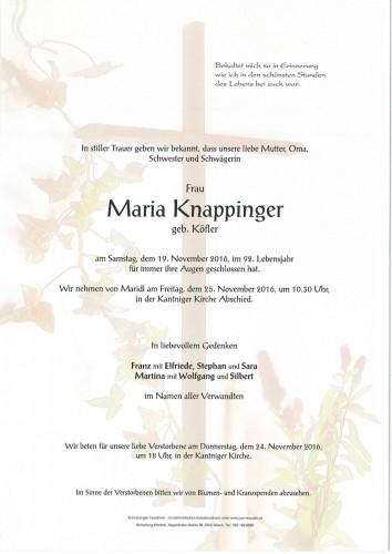 Maria Knappinger