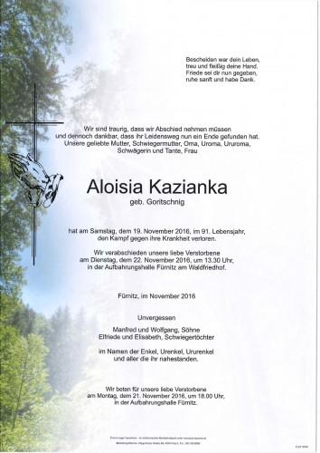 Aloisia Kazianka geb. Goritschnig