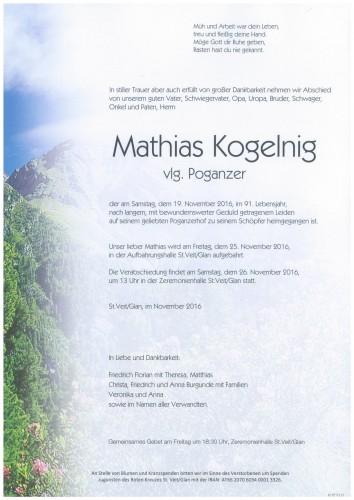 Mathias Kogelnig  vlg. Poganzer