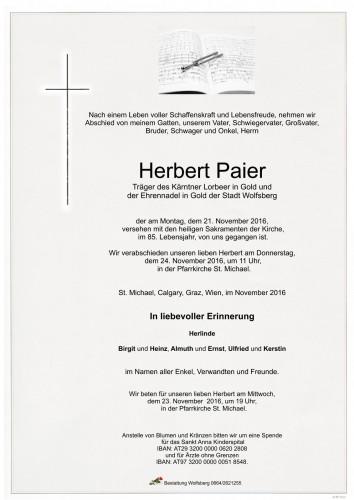 Herbert Paier