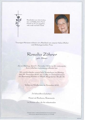 Rosalia Zöhrer