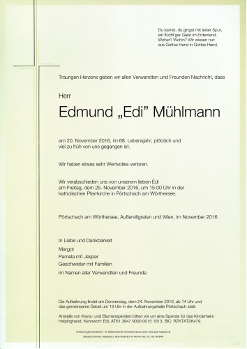 Edmund Mühlmann