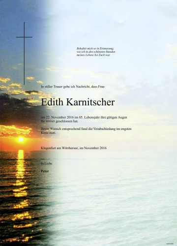 Edith Karnitscher