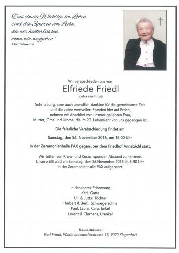 Elfriede Friedl
