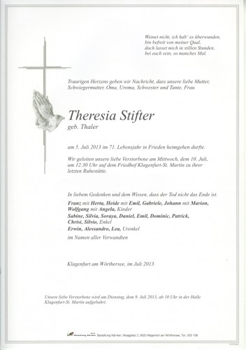 Theresia Stifter