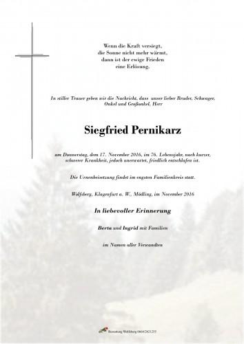 Siegfried Pernikarz