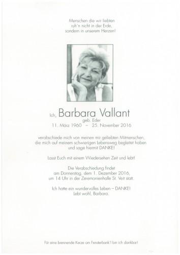 Barbara Vallant  geb. Eder