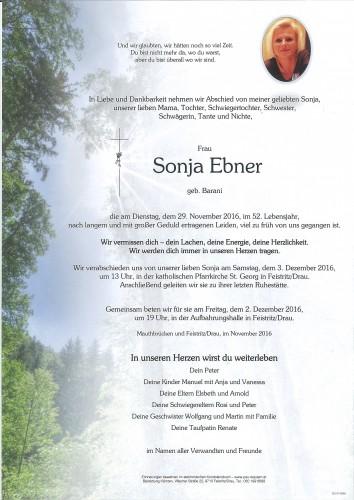 Sonja Ebner,  geb. Barani