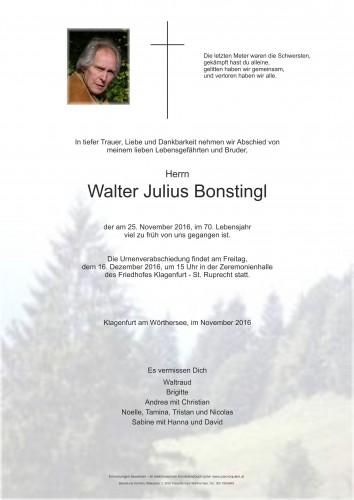 Walter Julius Bonstingl