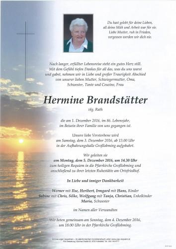 Hermine Brandstätter, vlg. Rath