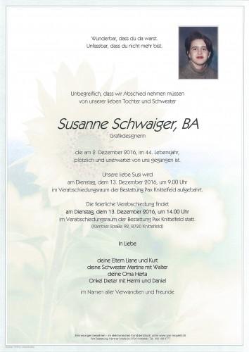 Susanne Schwaiger, BA