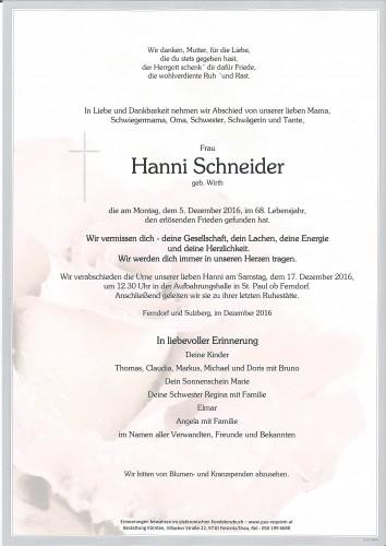 Hanni Schneider, geb. Wirth