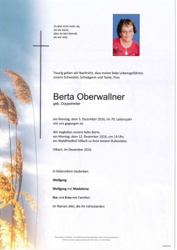 Berta Oberwallner geb. Doppelreiter