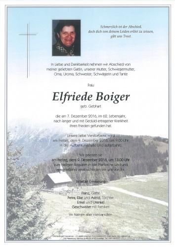 Elfriede Boiger