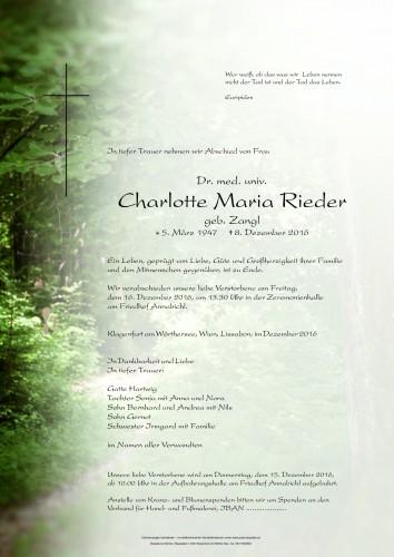 Dr. Charlotte Maria Rieder