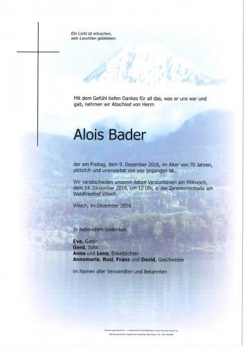 Alois Bader