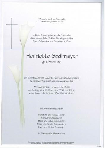 Henriette Sedlmayer