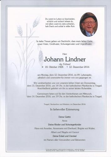 Johann Lindner, vlg. Frühauf