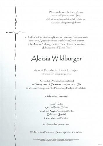 Aloisia Wildburger