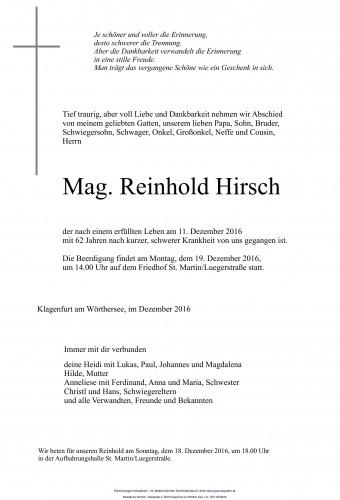 Mag. Reinhold Hirsch