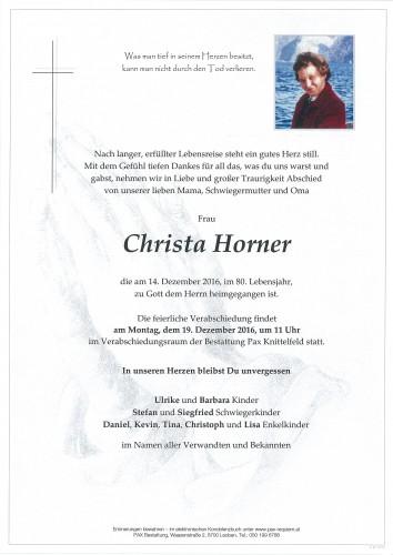 Christa Horner