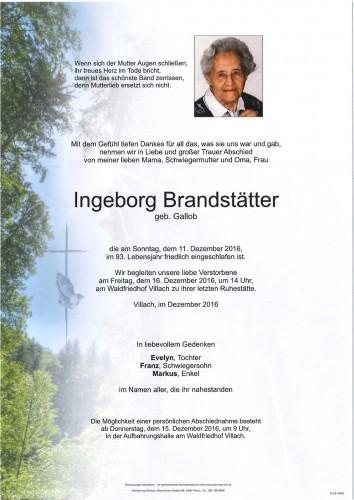 Ingeborg Brandstätter geb. Gallob