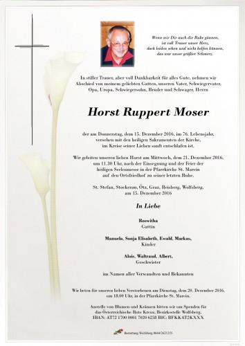 Horst Ruppert Moser