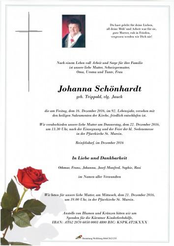 Johanna Schönhardt geb. Trippold