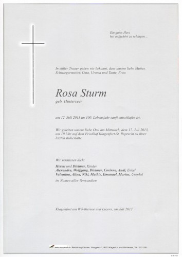 Rosa Sturm