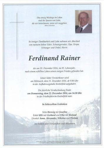 Ferdinand Rainer