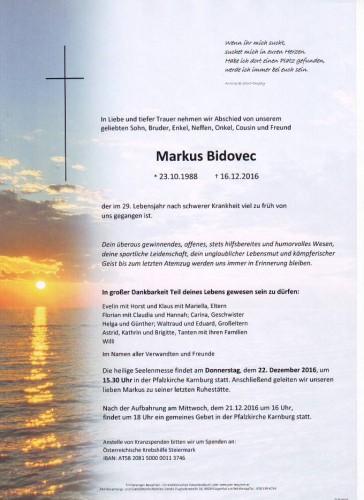 Markus Bidovec