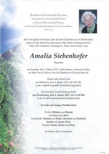 Amalia Siebenhofer