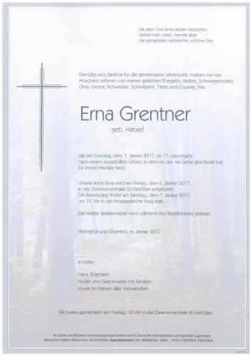 Erna Grentner  geb. Haberl